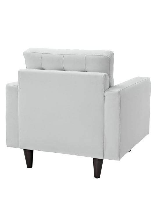 White Leather Bedford Armchair 4