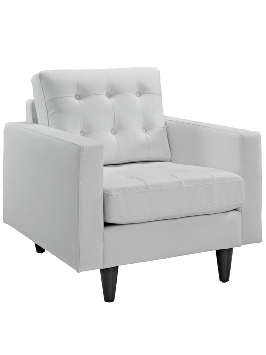 White Leather Bedford Armchair