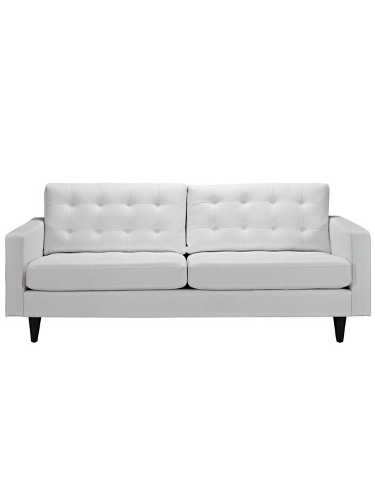 White Leather Bedford Sofa 2