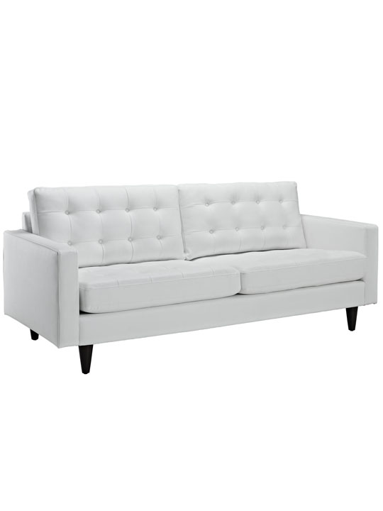 White Leather Bedford Sofa
