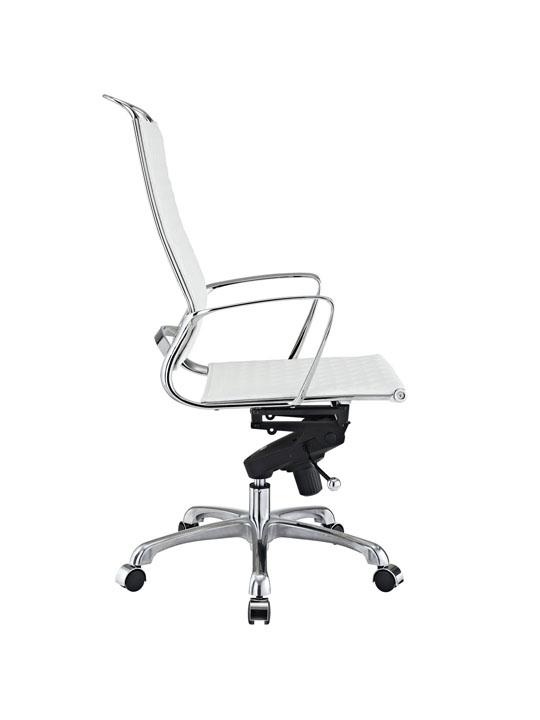 White Leather Coco High Back Office Chair 2