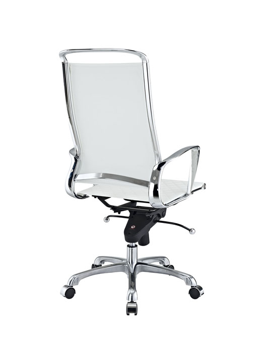 White Leather Coco High Back Office Chair 3