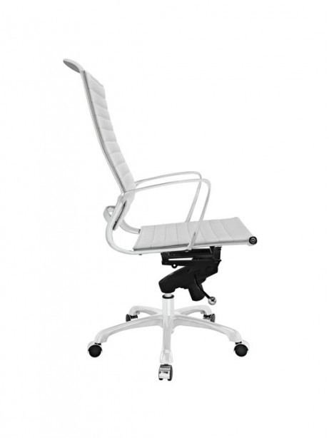 White Leather Instant Planner High Back Office Chair 2 461x614