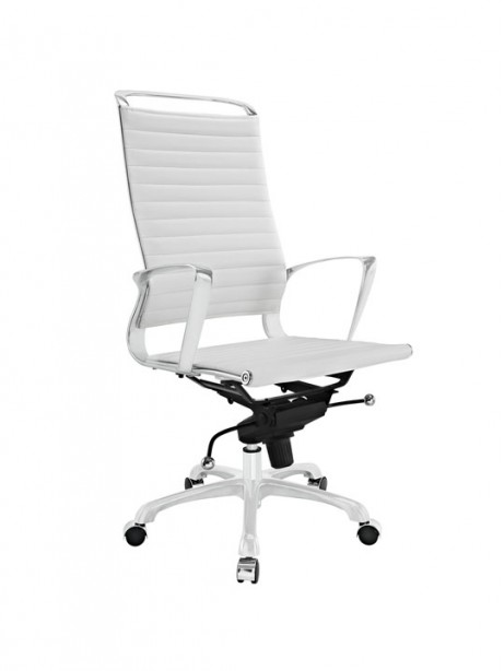 White Leather Instant Planner High Back Office Chair 461x614