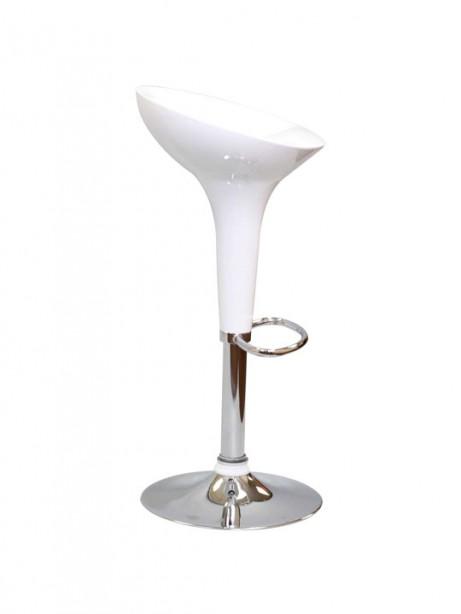 White Modern Retro Barstool 2 461x614