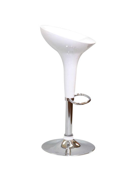 White Modern Retro Barstool 2