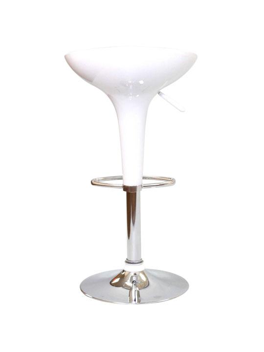 White Modern Retro Barstool 3
