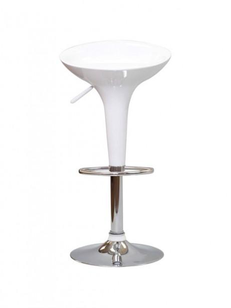 White Modern Retro Barstool 461x614