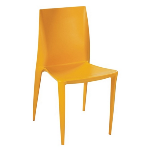 Yellow Plastic Simple Chair