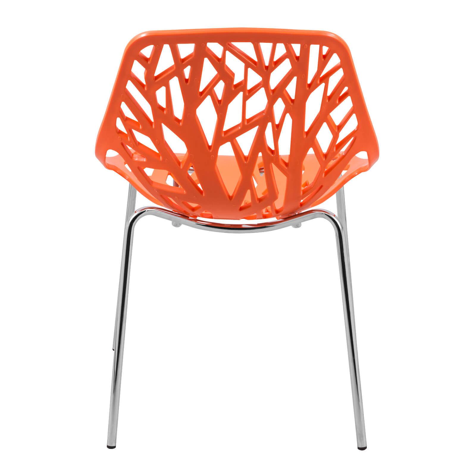 orange life chair set 4