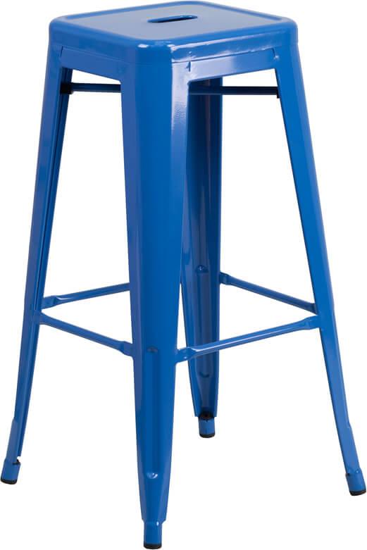 tonic metal barstool electric blue