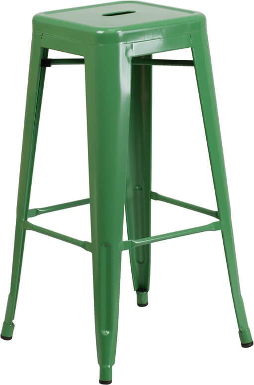 tonic metal barstool green