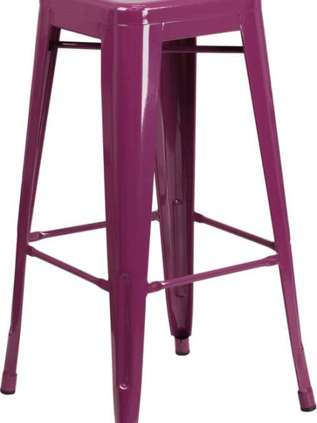 tonic metal barstool purple 461x614