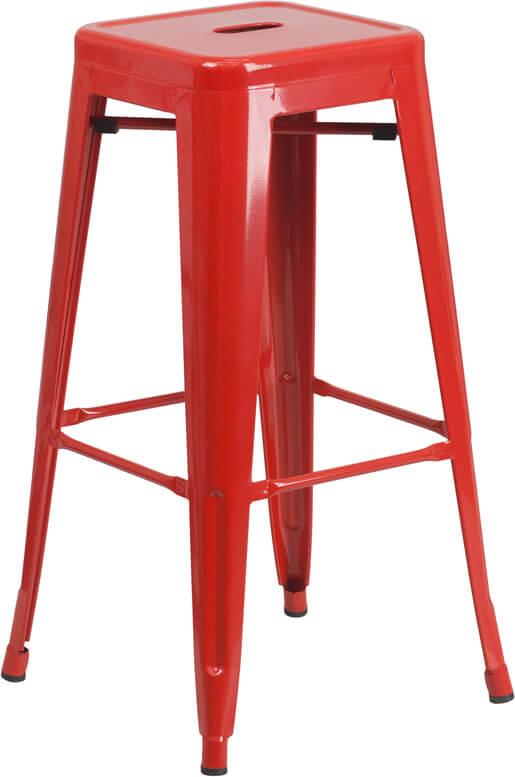 tonic metal barstool red