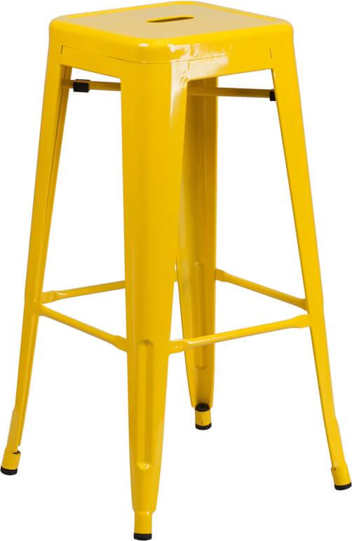 tonic metal barstool yellow
