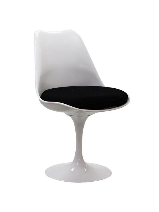 Astro Chair White Shell Black Cushion 2