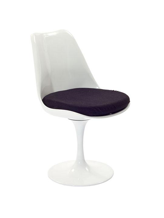 Astro Chair White Shell Black Cushion 3