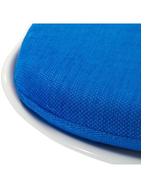 Astro Chair White Shell Blue Cushion 5