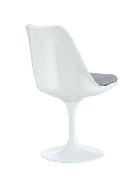 Astro Chair White Shell Gray Cushion 3