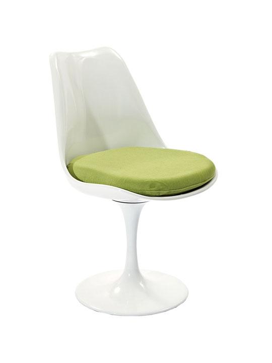 Astro Chair White Shell Green Cushion 2