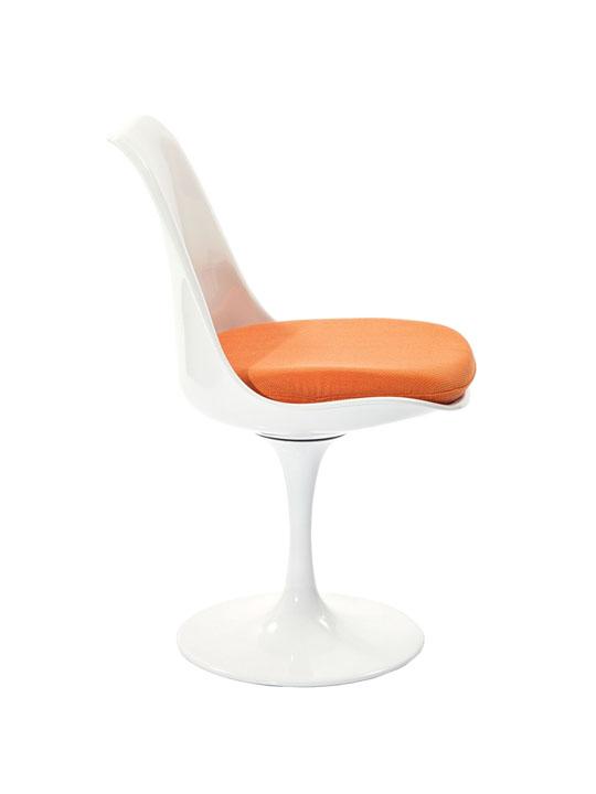 Astro Chair White Shell Orange Cushion 3