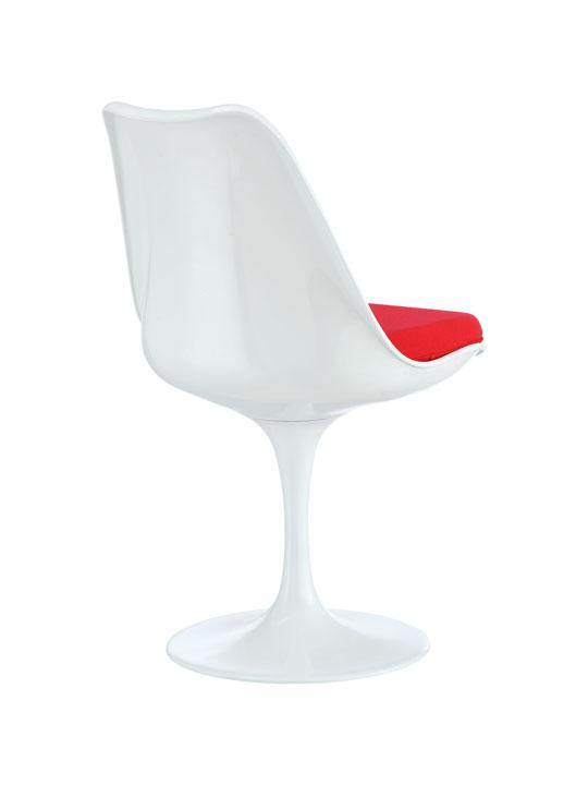 Astro Chair White Shell Red Cushion 3