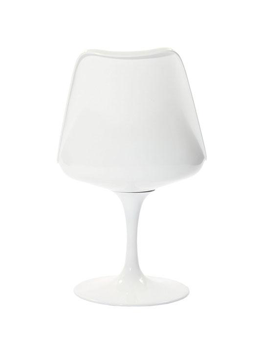 Astro Chair White Shell Red Cushion 4