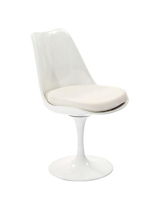 Astro Chair White Shell White Cushion 2