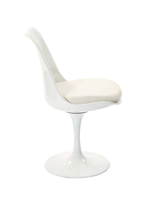 Astro Chair White Shell White Cushion 3