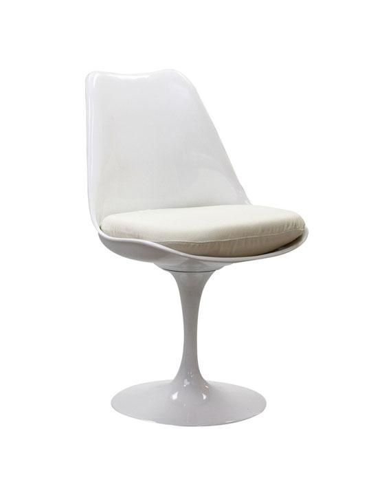 Astro Chair White Shell White Cushion 5