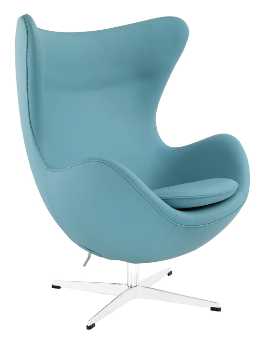 Baby Blue Magnum Leather Chair