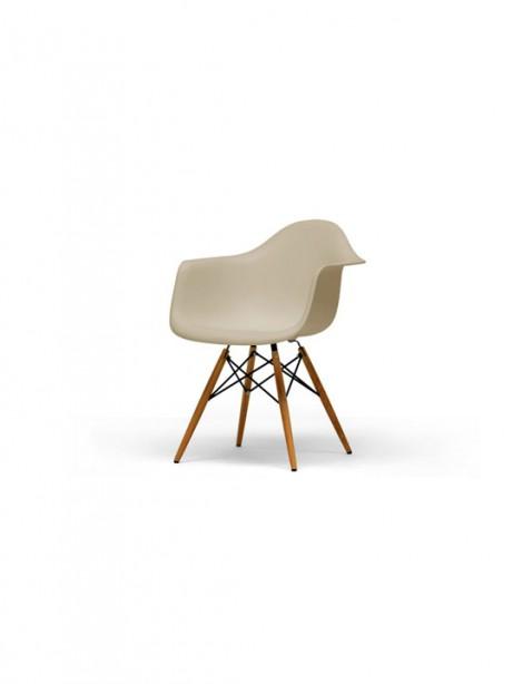 Beige Wood Base Armchair 461x614