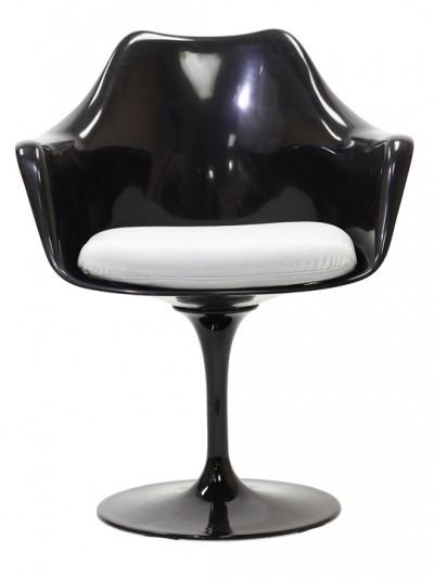 Black Astro Armchair White Cushion e1435091206807