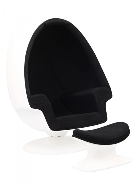 Black Droplet Lounge Chair 461x614