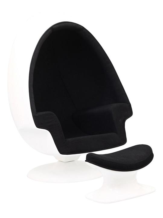 Black Droplet Lounge Chair