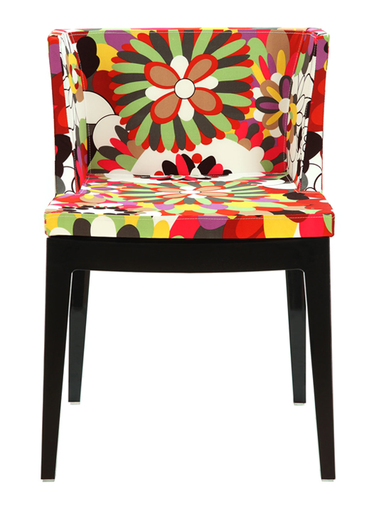 Black Floral No. 9 Chair