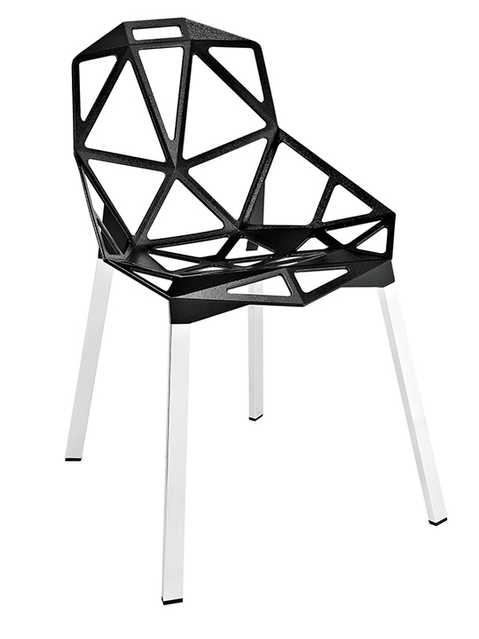 Black Grid Chair