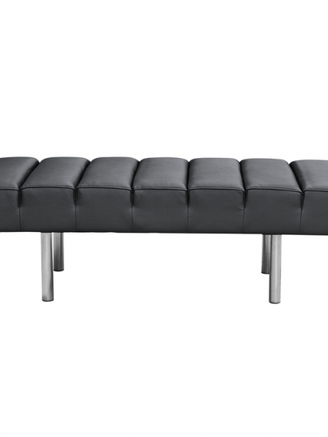 Black Leather 2 Seater Paragon Bench 2 461x614