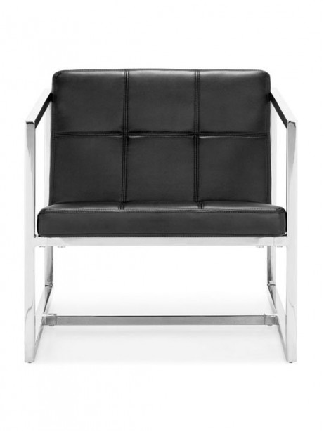 Black Leather Luxe Lounge Chair 3 461x614