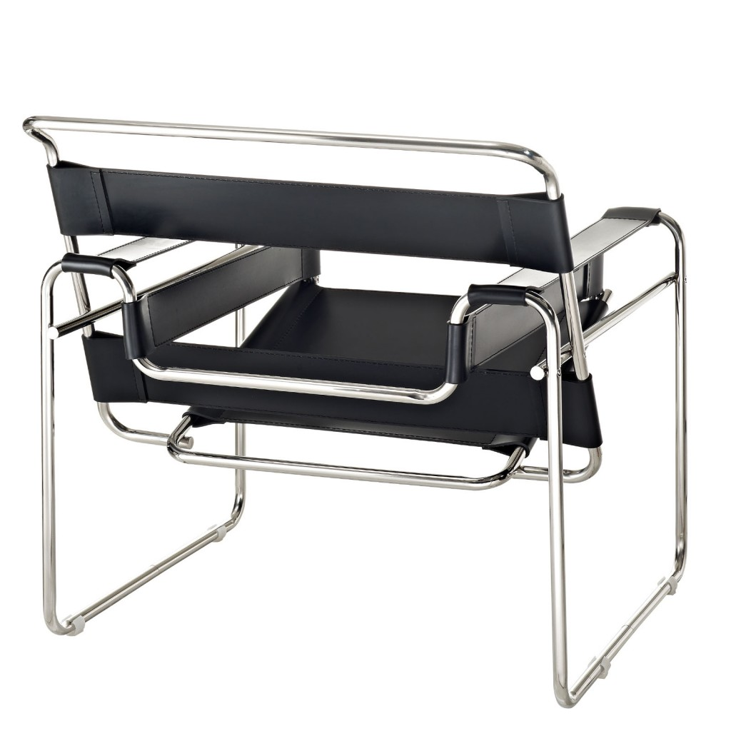 modern chair. Black Leather Strap Chair 2 Modern I