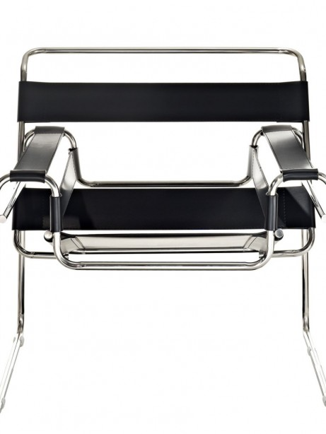 Black Leather Strap Chair 3 461x614