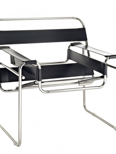 Black Leather Strap Chair 461x614