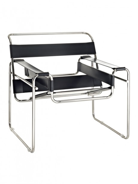 Black Leather Strap Chair1 461x614