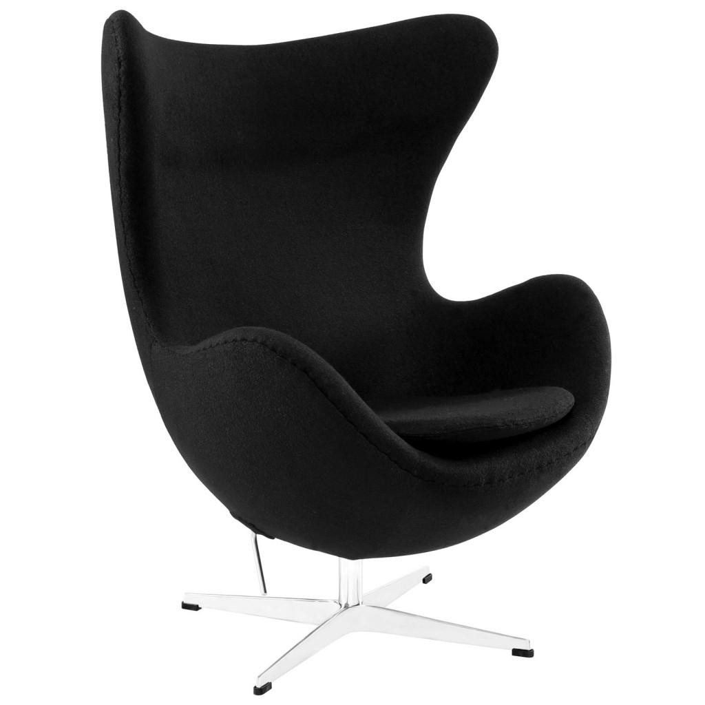 Black Magnum Wool Chair
