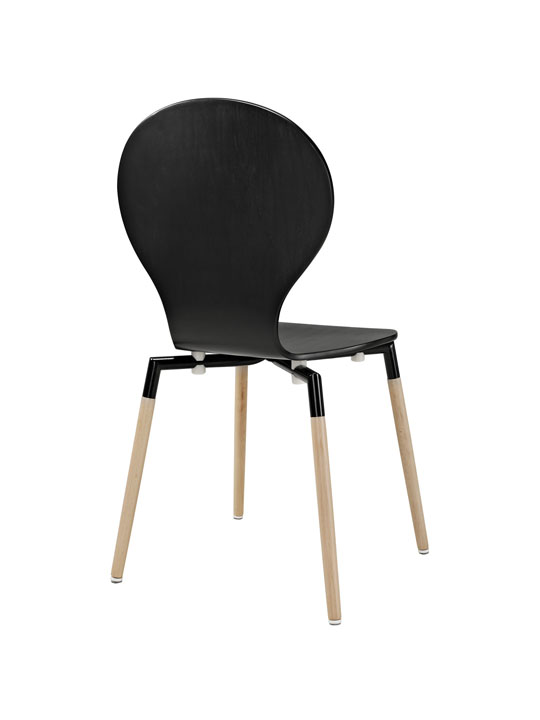 Black Ombre Wood Chair 3