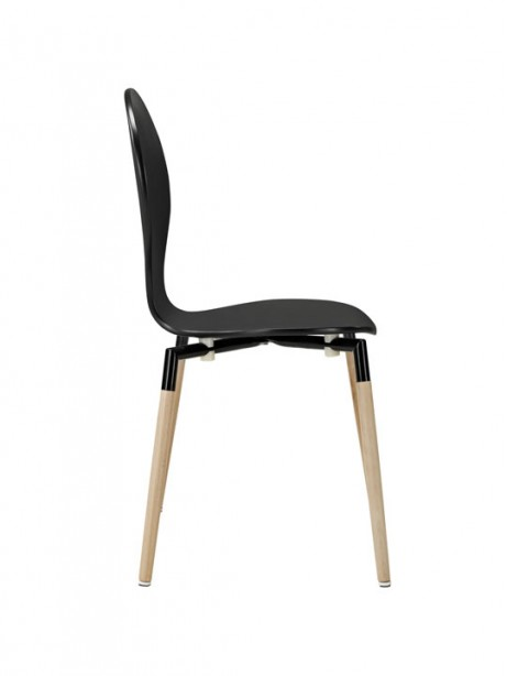 Black Ombre Wood Chair 461x614