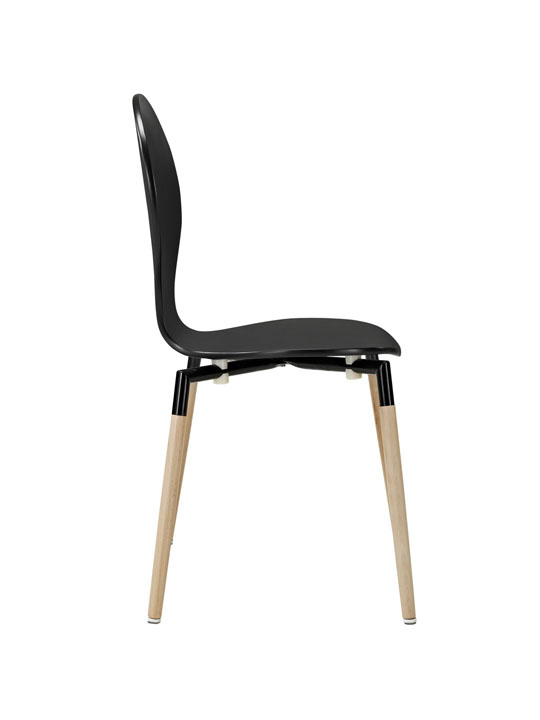 Black Ombre Wood Chair