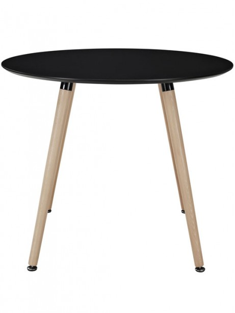 Black Ombre Wood Circle Dining Table 2 461x614