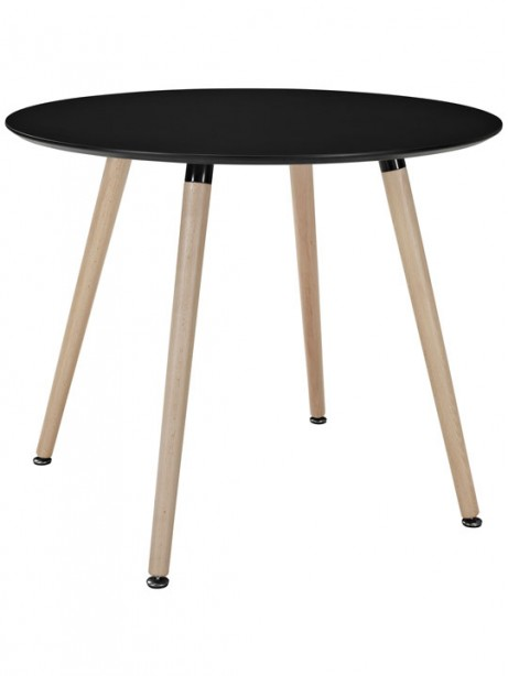 Black Ombre Wood Circle Dining Table 461x614