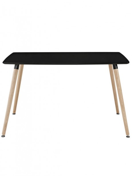 Black Ombre Wood Rectangle Dining Table 2 461x614